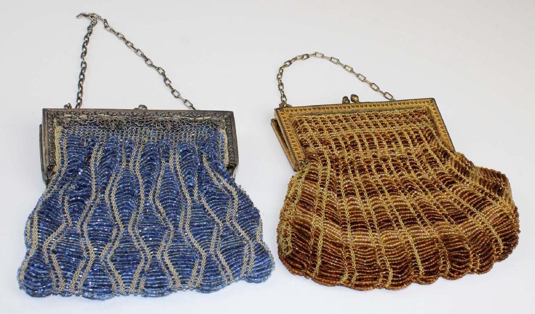 two vintage Art Deco era beaded purses - 5