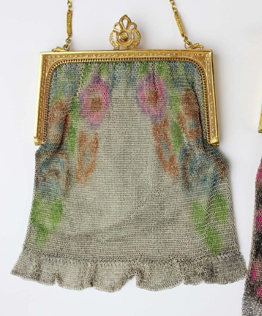 three vintage Art Deco era wire mesh purses - 2