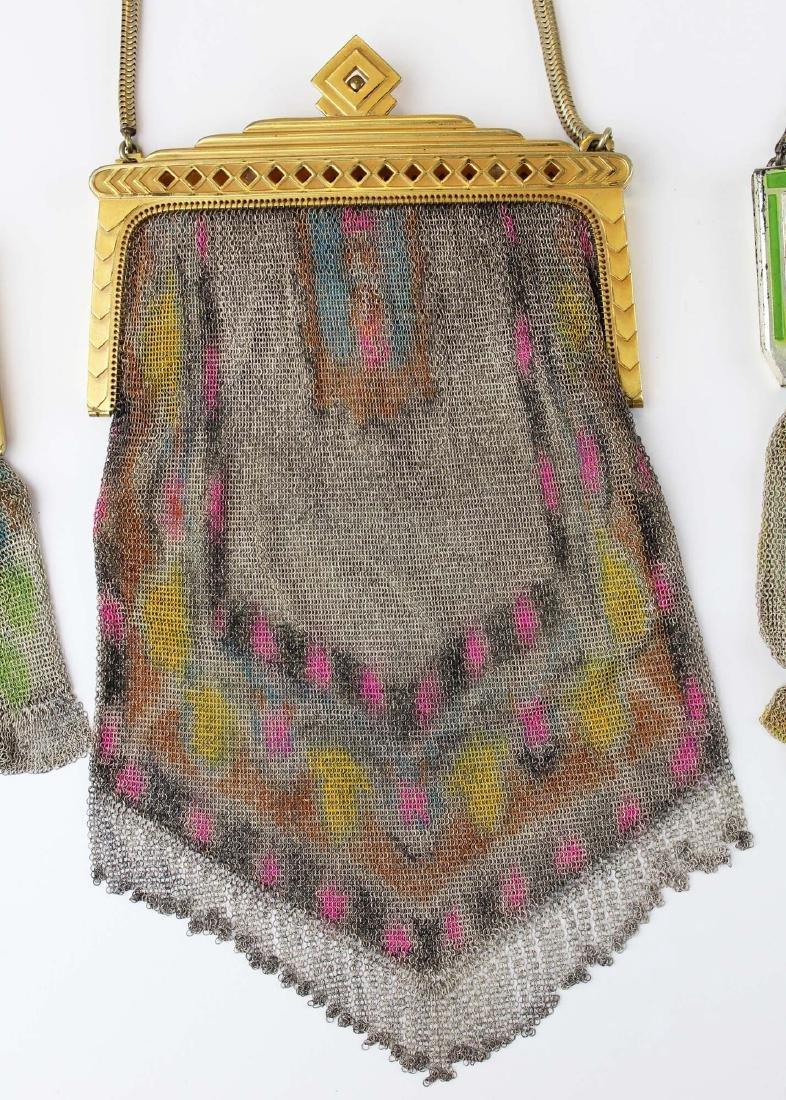 three vintage Art Deco era wire mesh purses - 3