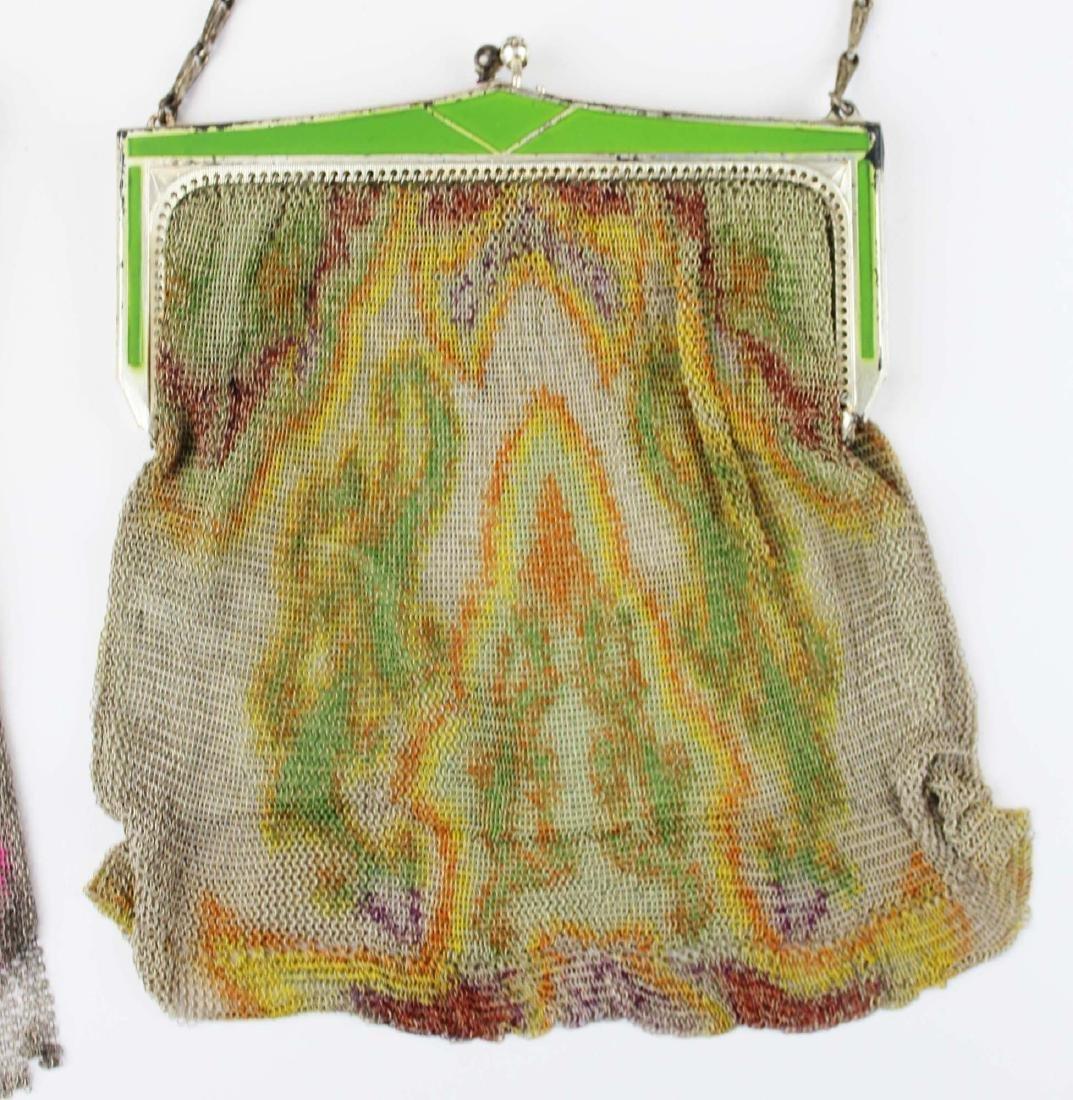 three vintage Art Deco era wire mesh purses - 4