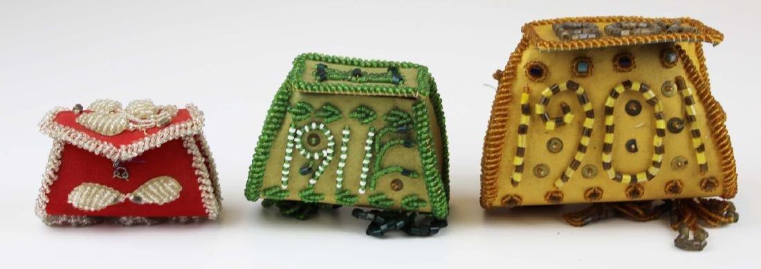 three vintage Native American purses
