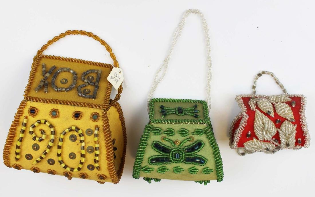 three vintage Native American purses - 6