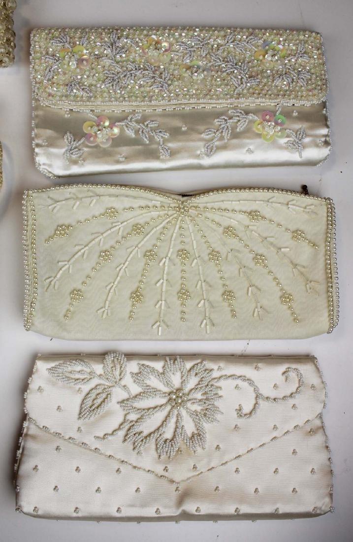 nine vintage cloth purses, clutch purses - 2