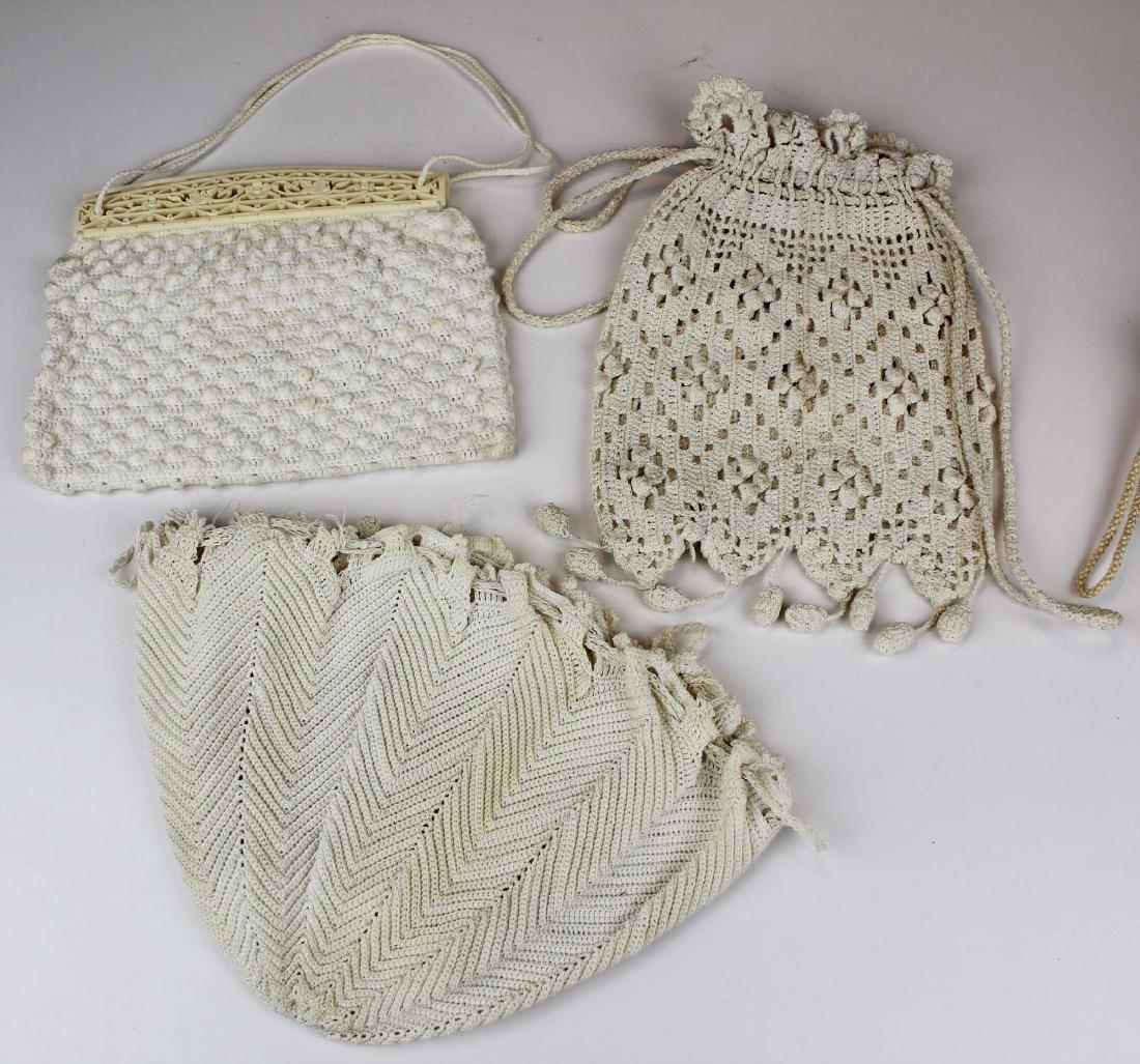 nine vintage cloth purses, clutch purses - 4