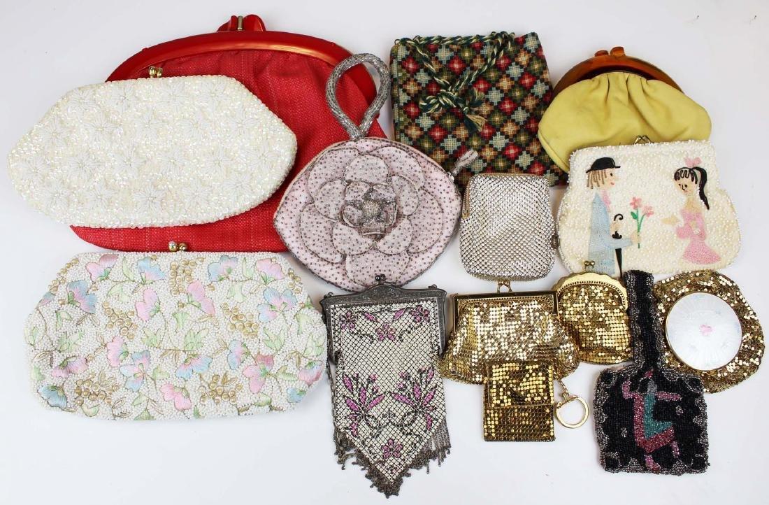 thirteen vintage purses