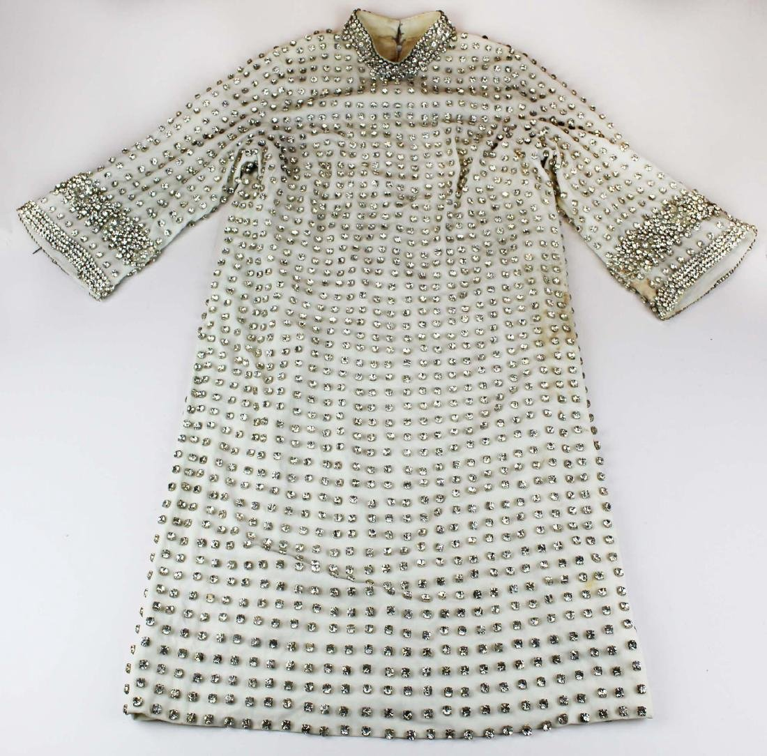vintage 1940's rhinestone covered dress