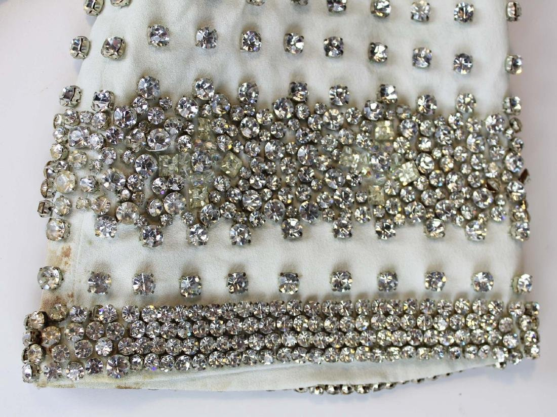 vintage 1940's rhinestone covered dress - 3