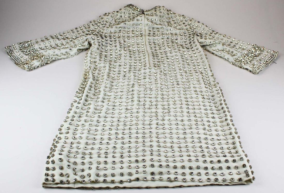 vintage 1940's rhinestone covered dress - 6