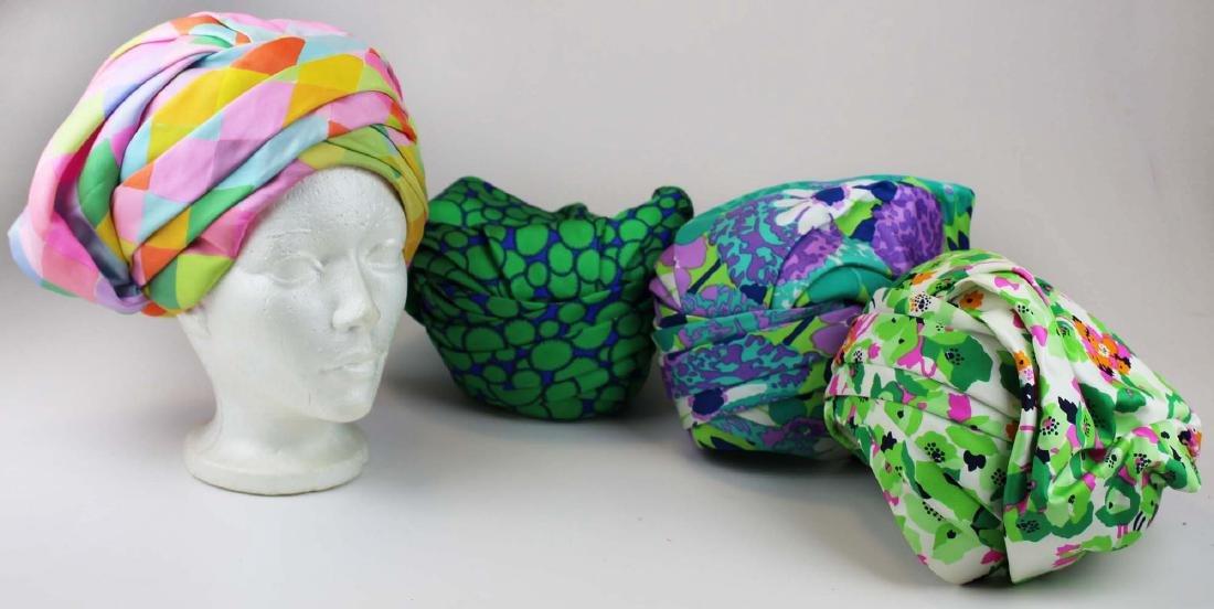 four Christian Dior silk hats
