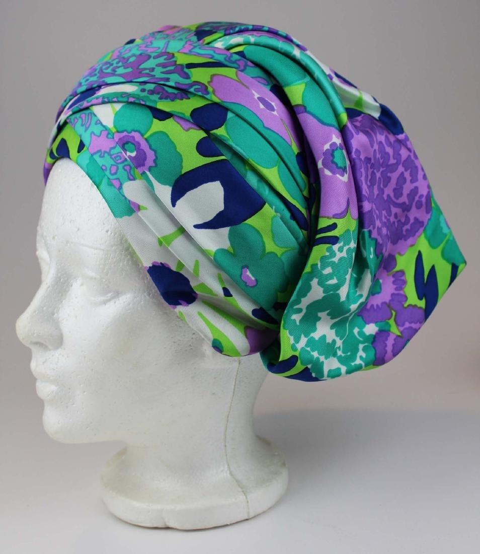 four Christian Dior silk hats - 4