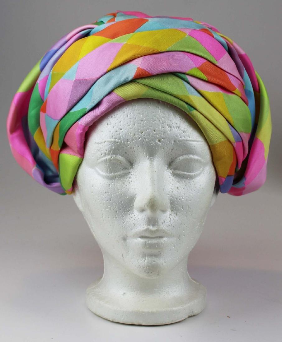 four Christian Dior silk hats - 6