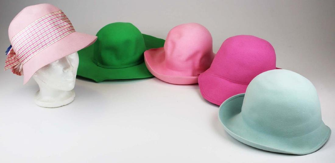 five Saks 5th Ave, Bloomingdales felt hats