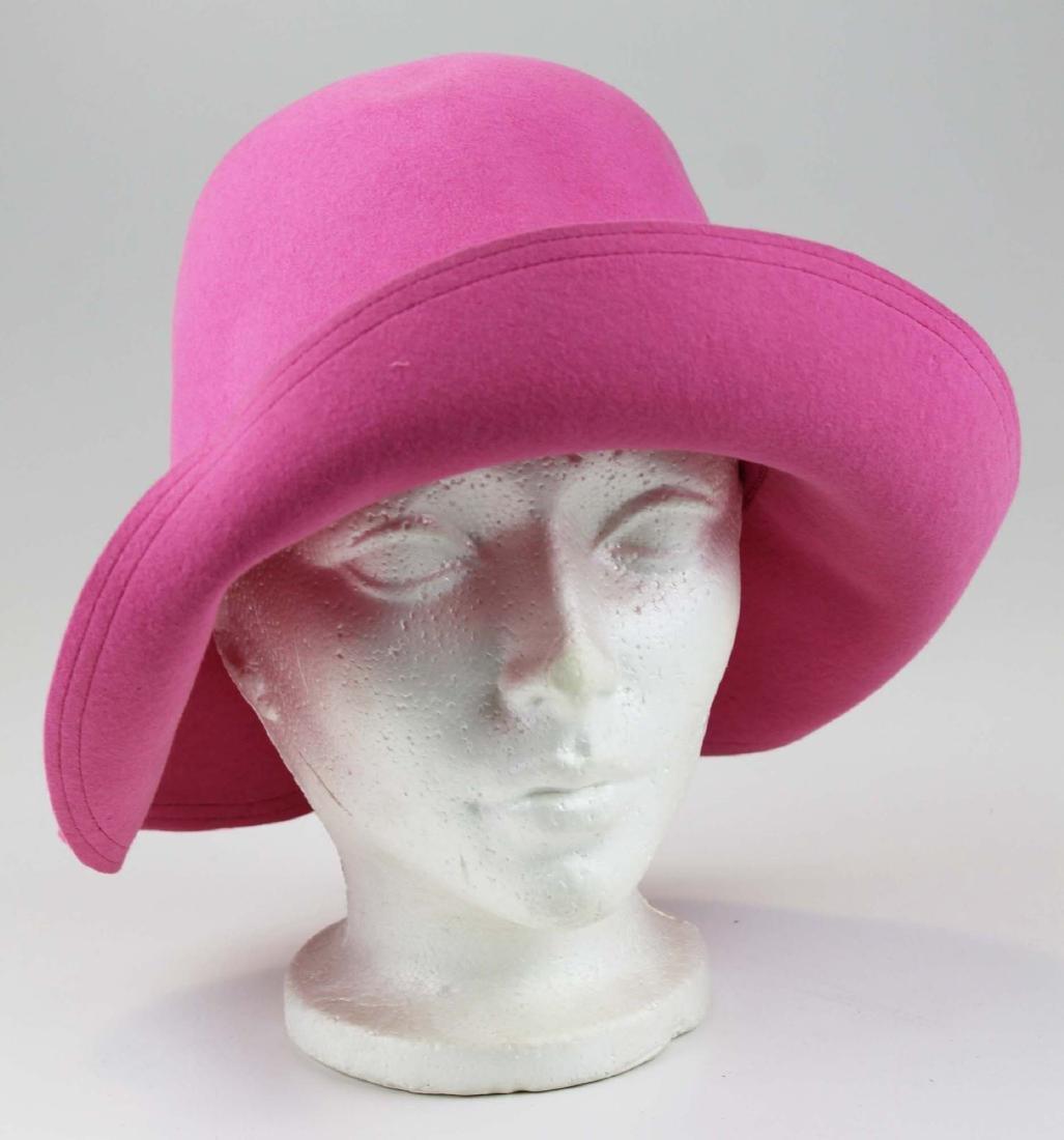 five Saks 5th Ave, Bloomingdales felt hats - 5