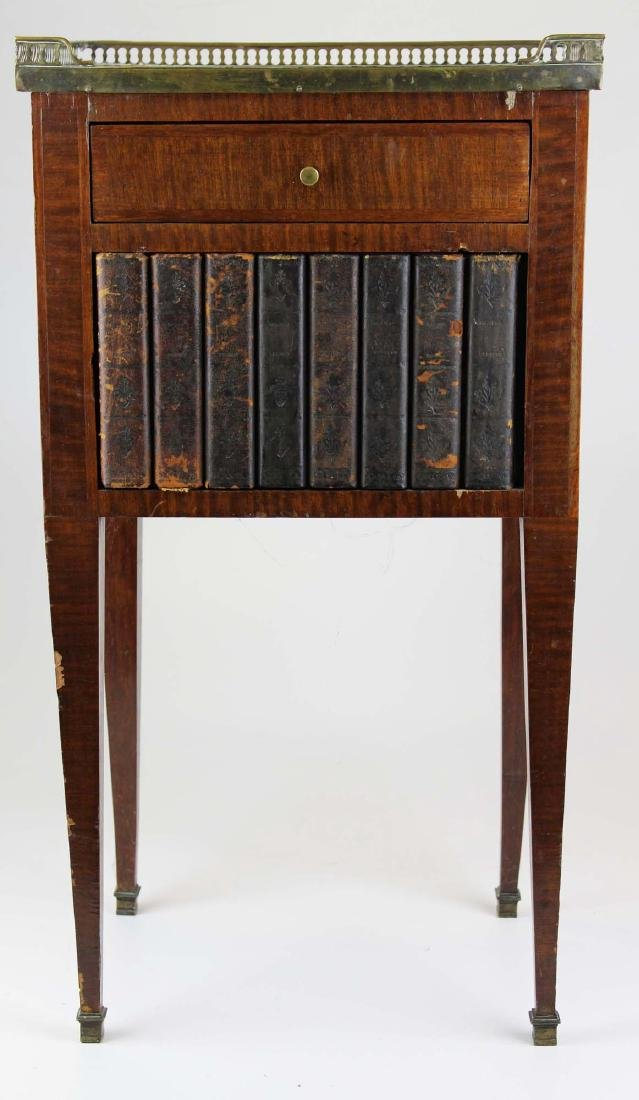 ca 1900 English stand w/ faux bookcase front