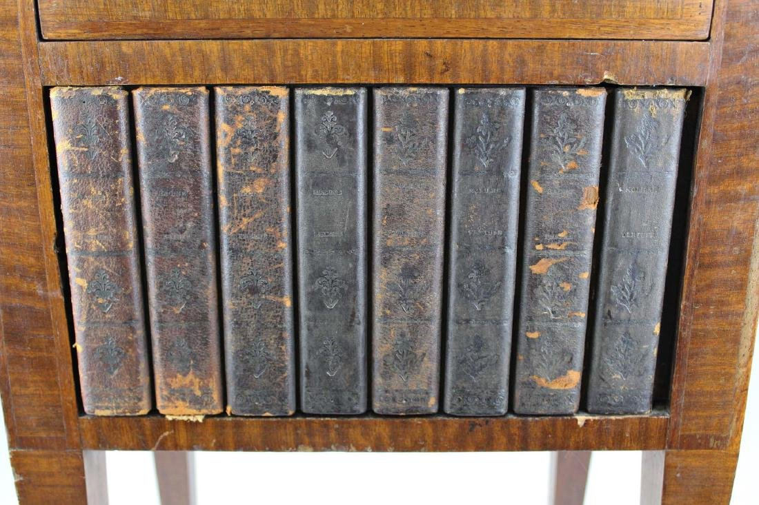 ca 1900 English stand w/ faux bookcase front - 3