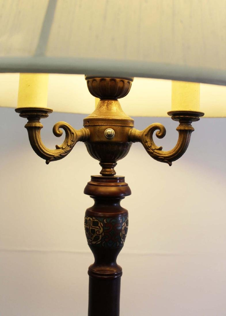 mid 20th c Chinese cloisonne floor lamp - 2