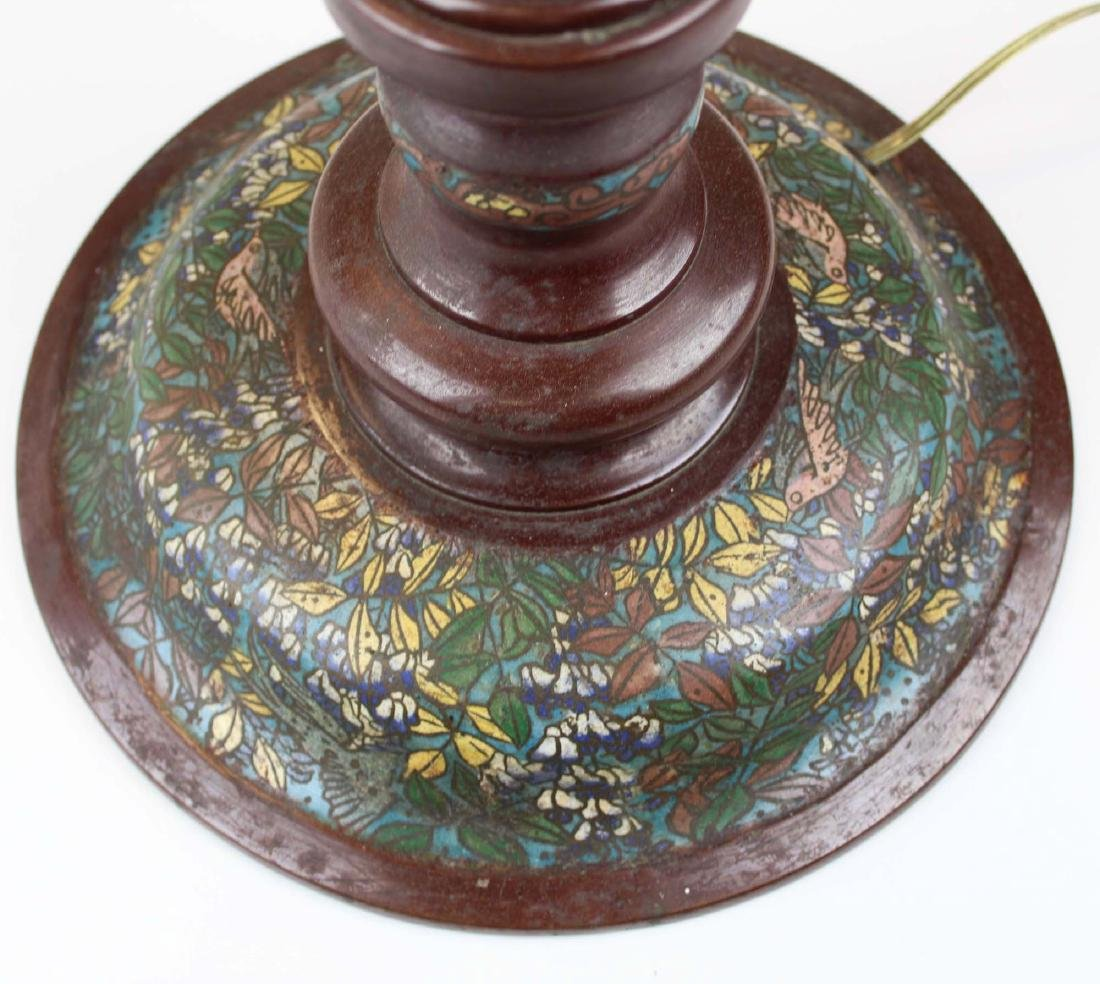 mid 20th c Chinese cloisonne floor lamp - 5