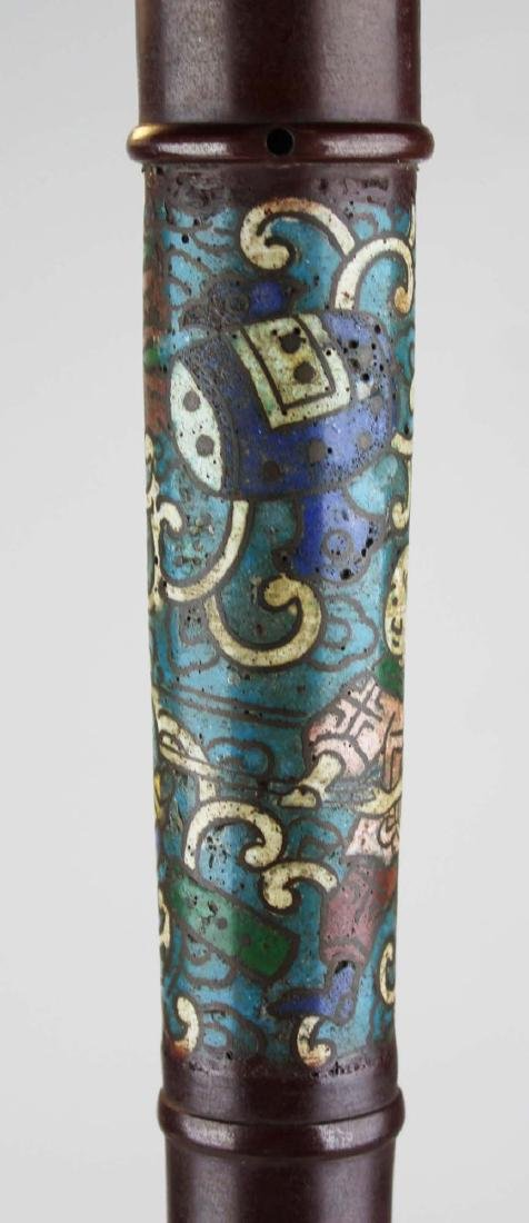 mid 20th c Chinese cloisonne floor lamp - 6