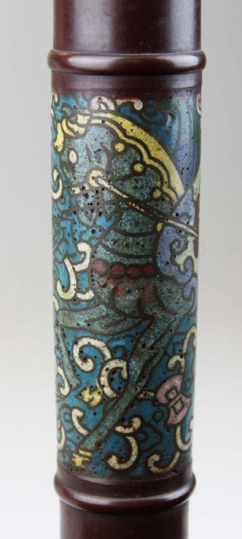 mid 20th c Chinese cloisonne floor lamp - 7