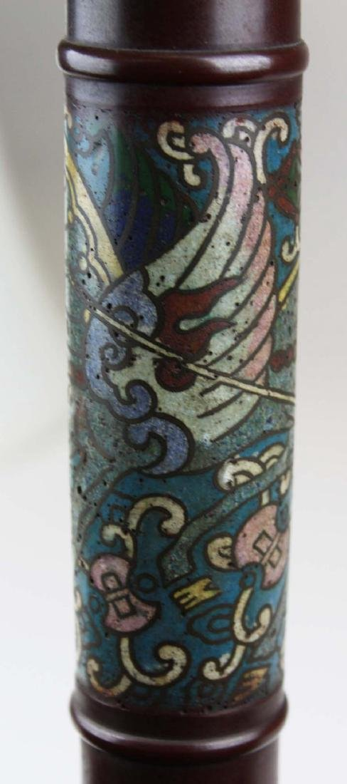 mid 20th c Chinese cloisonne floor lamp - 8