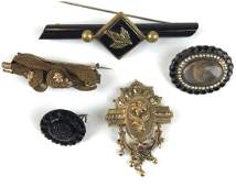 Group of 5 Victorian pins
