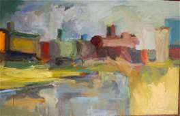 Raoul Middleman (AM 1935-) Railroad Yards