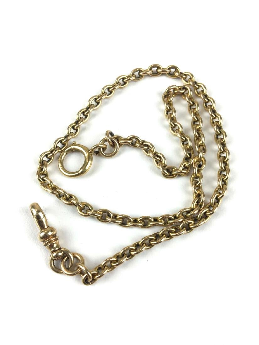 18k & 14k yellow gold watch chain