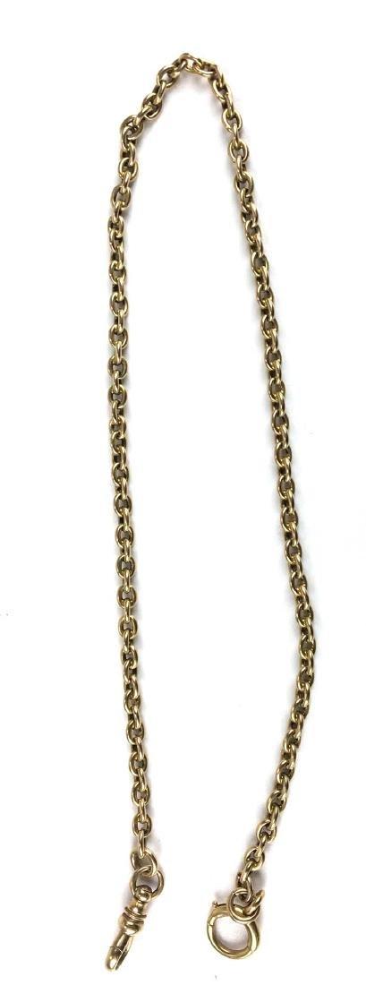 18k & 14k yellow gold watch chain - 2