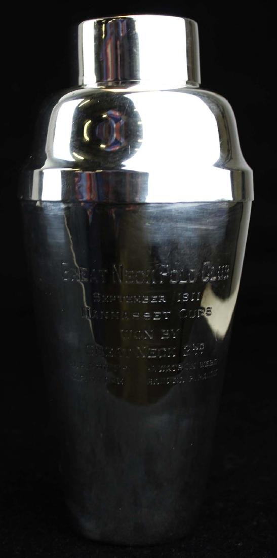 Gorham sterling  polo trophy cocktail shaker