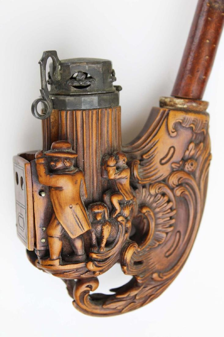 late 19th c German Black Forest jaeger pipe - 3