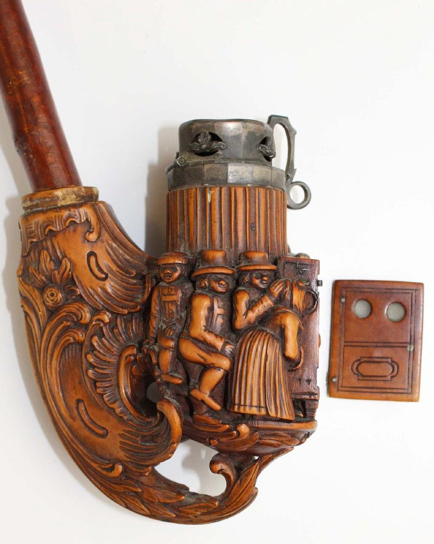 late 19th c German Black Forest jaeger pipe - 6
