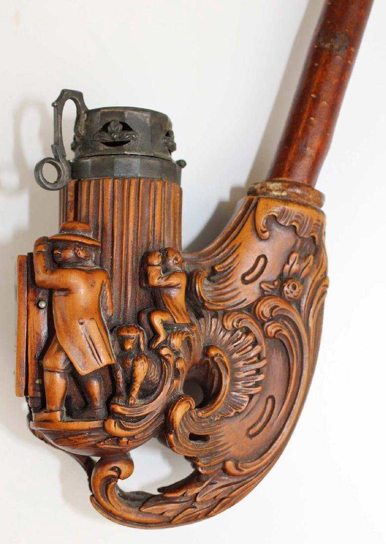 late 19th c German Black Forest jaeger pipe - 9
