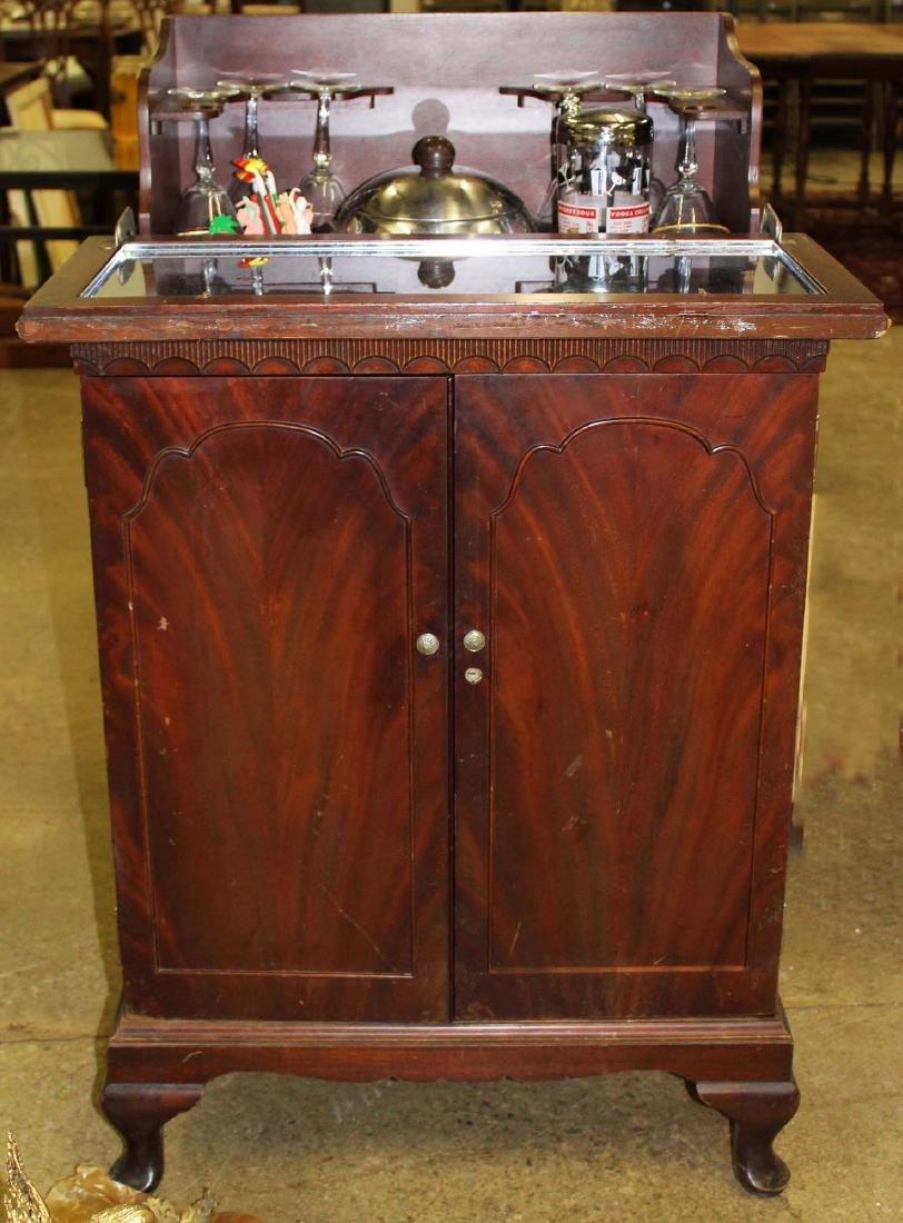 mid 20th c mahogany bar cabinet