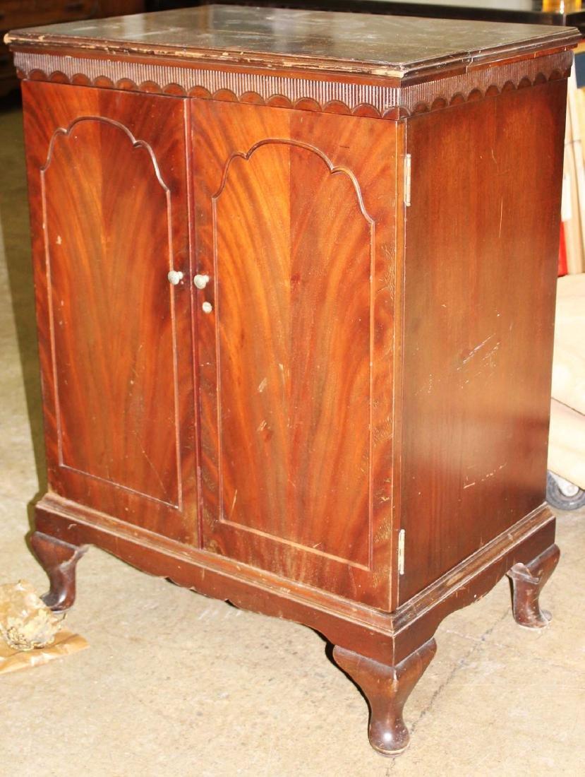 mid 20th c mahogany bar cabinet - 2