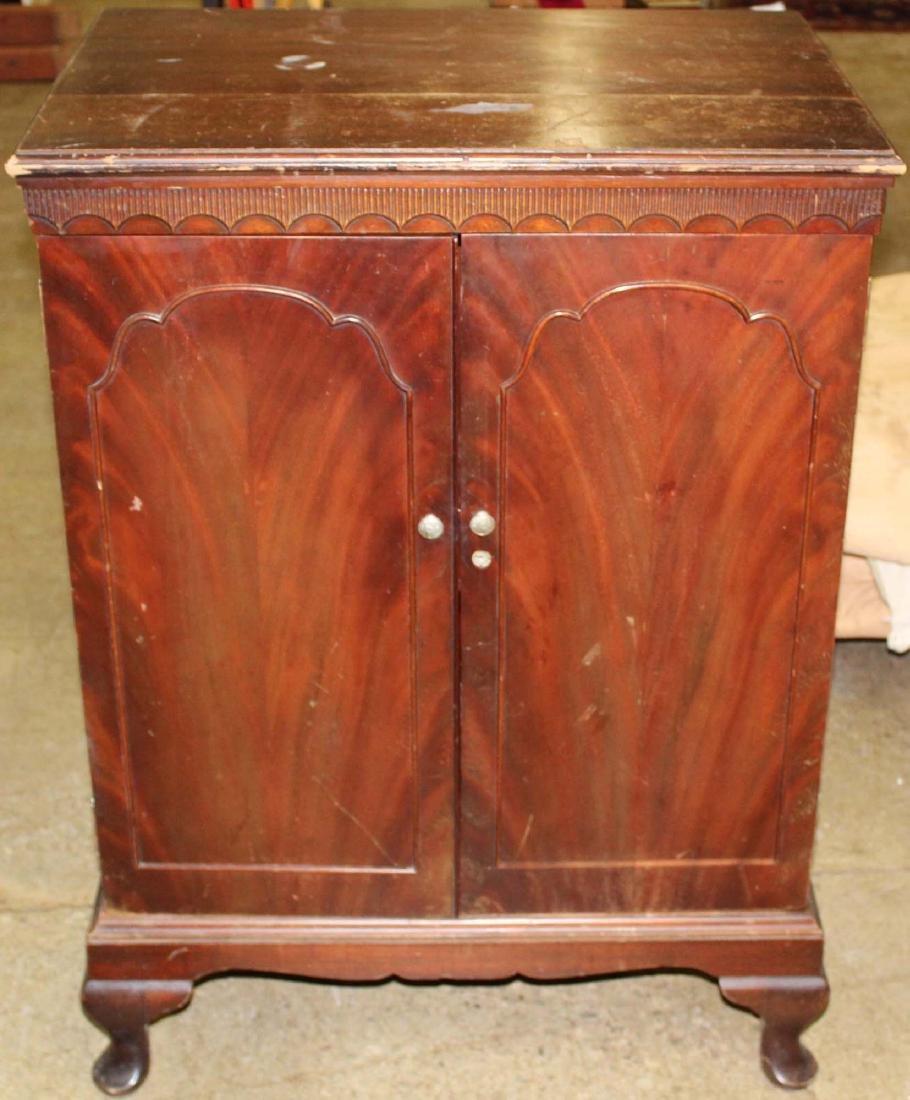 mid 20th c mahogany bar cabinet - 3