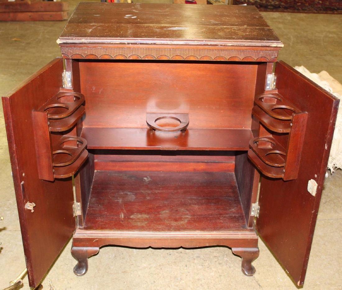 mid 20th c mahogany bar cabinet - 4