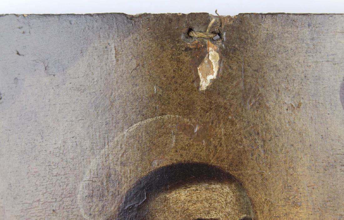 19th c Central American retablo wooden panel - 3