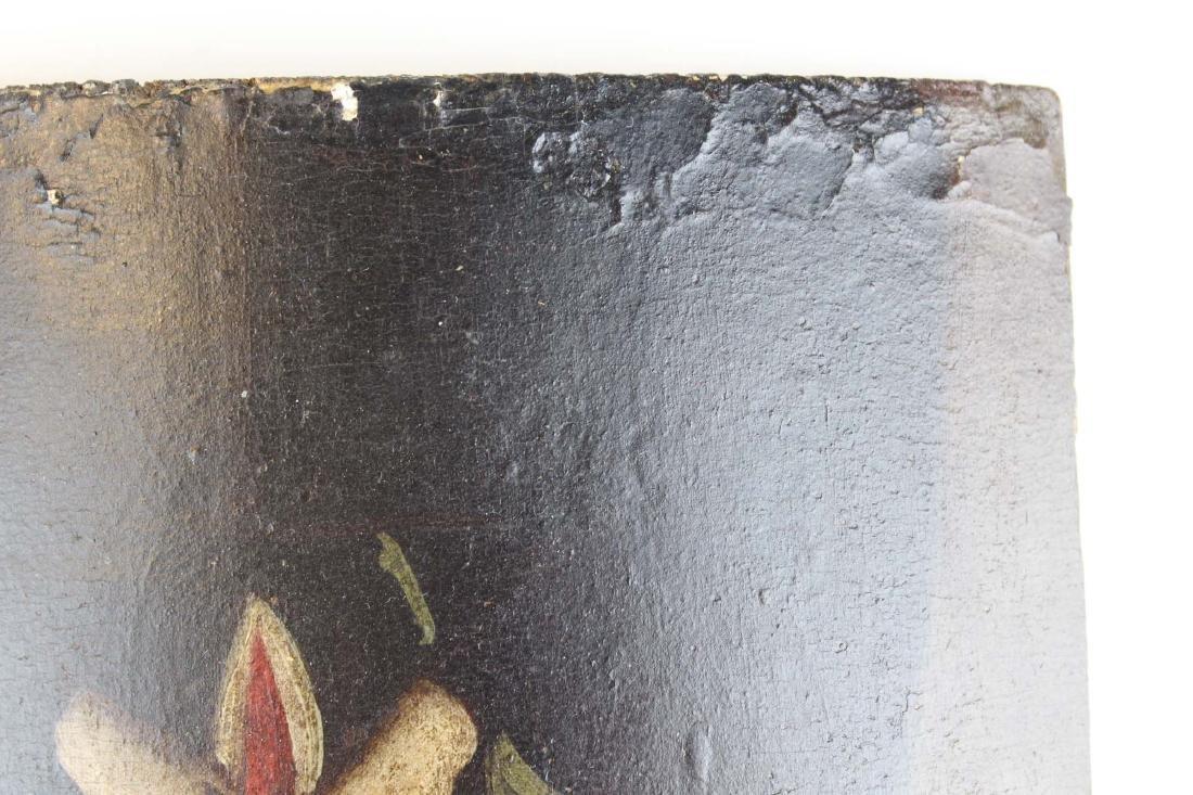 19th c Central American retablo wooden panel - 5