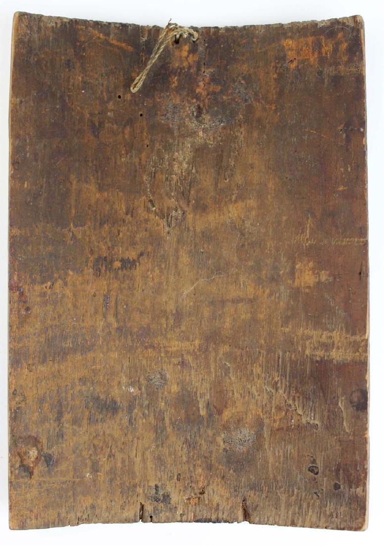 19th c Central American retablo wooden panel - 6
