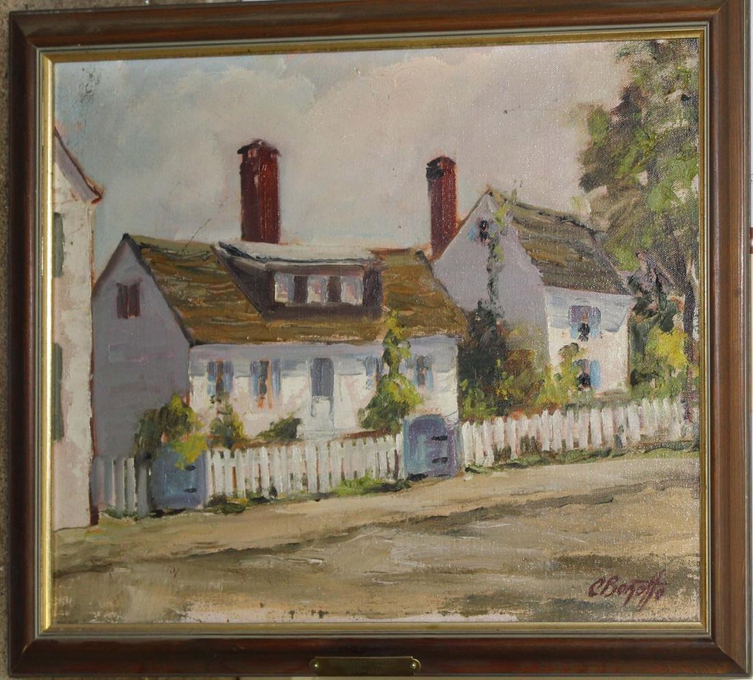 Constance Bonotto (MA 1899-1993) White Cottage