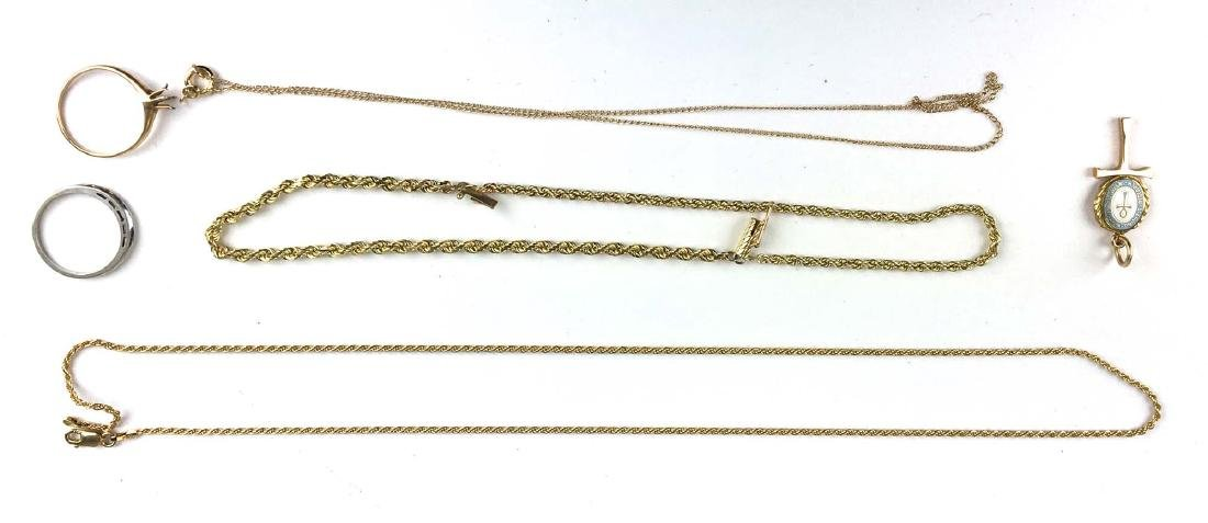Lot of 14k yellow gold & white gold jewelry