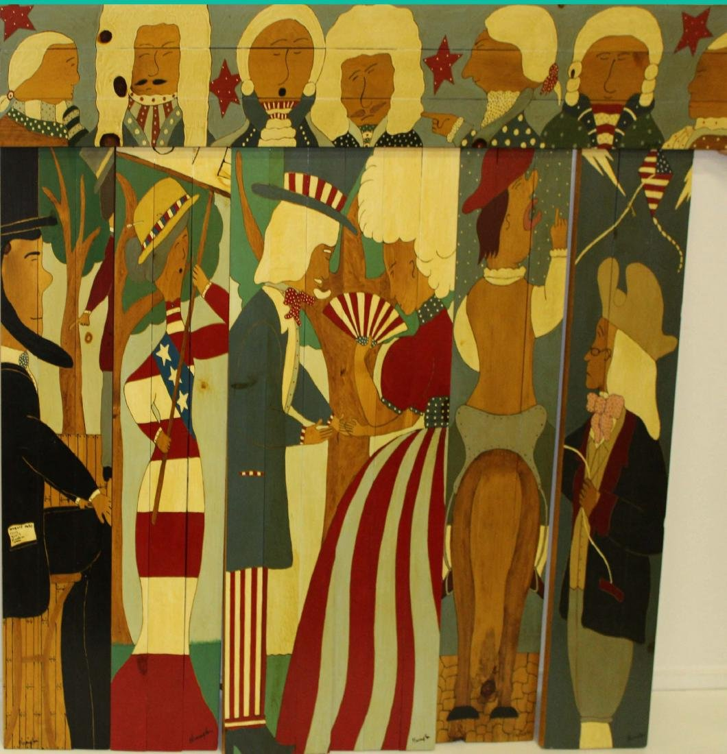 Seven pine patriotic panels