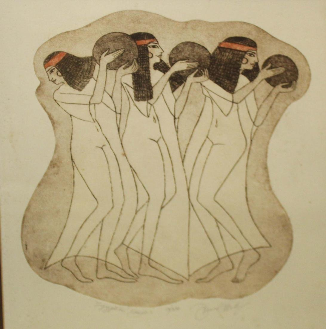 Donna Aldridge (20th c ) Egyptian Dancers
