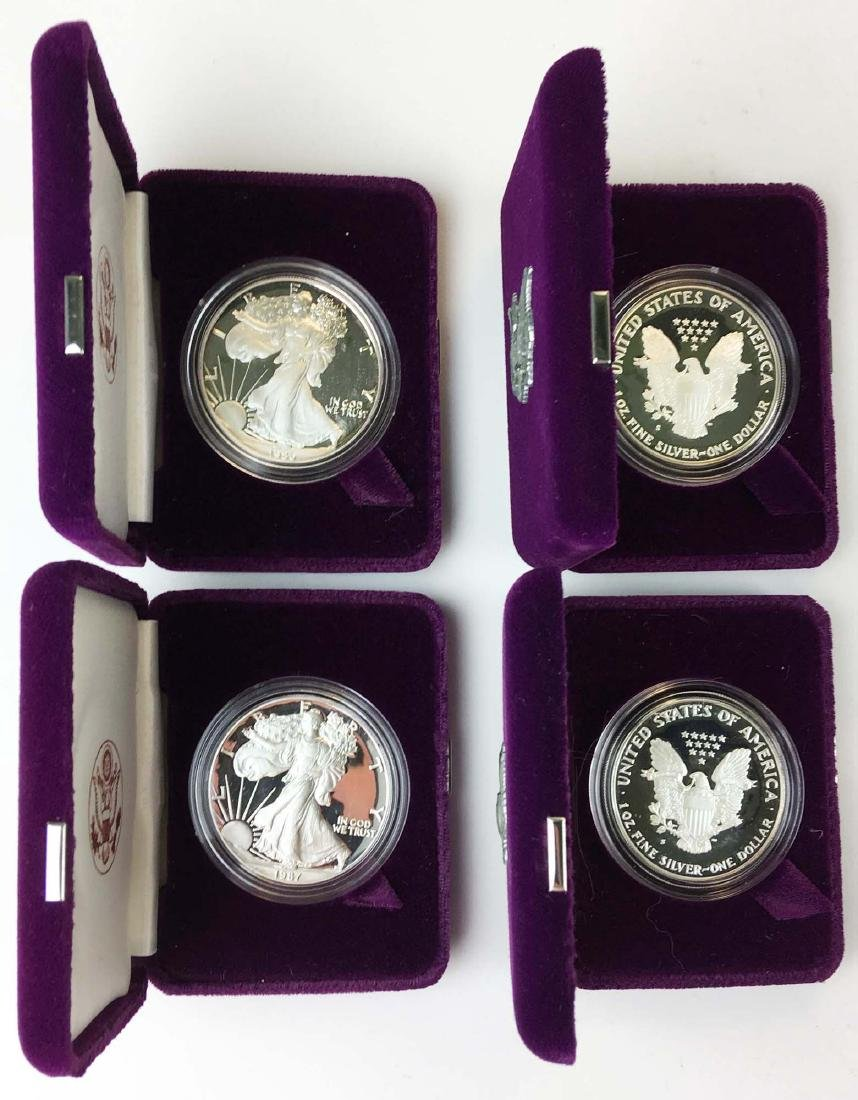 4 US American Eagle 1 oz proof coins - 2