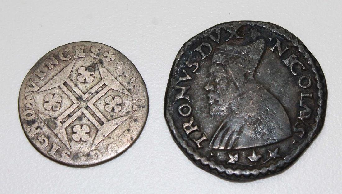 Two early European coins
