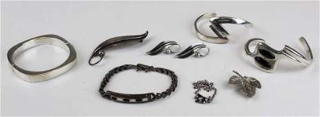 group of sterling jewelry incl. Tiffany, Taxco