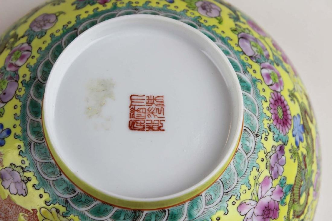 early 20th c Chinese eggshell bowl - 8