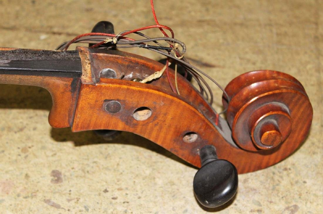 early 20th c cello- as is, w/ C Suss bow - 2