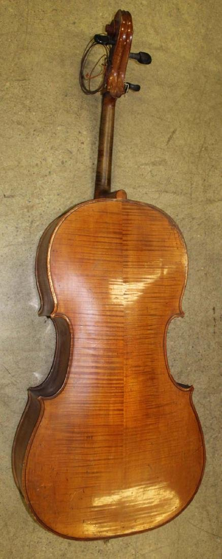 early 20th c cello- as is, w/ C Suss bow - 3