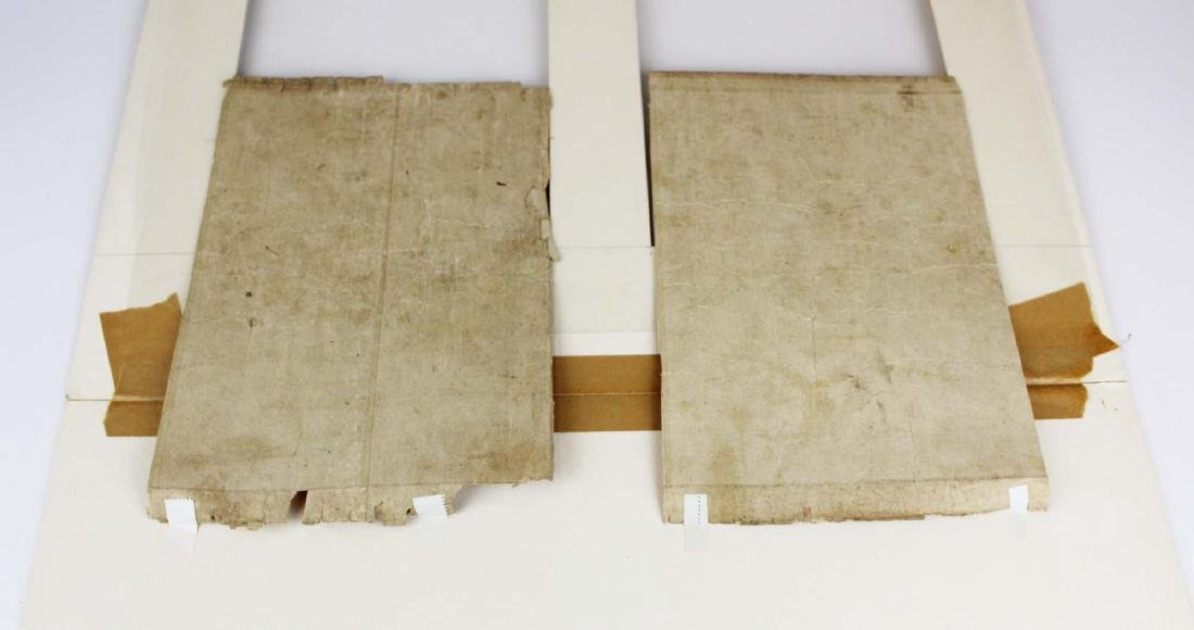 two 18th c Japanese handwritten pages - 6